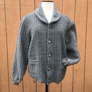 VTG Classic Grey Buck Skein Brand Wool Sweater
